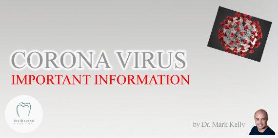CORONA VIRUS - IMPORTANT UPDATE