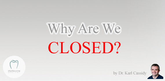 Why Are We Currently (more or less) Closed?